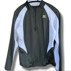 MIZUNO BLACK & WHITE  DRYLITE ATHLETIC JACKET SZ M